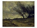 Le Coup de Ventgust of Wind Reproduction procédé giclée par Jean-Baptiste-Camille Corot