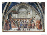 Confirmation of the Order of Saint Francis Giclée-tryk af Domenico Ghirlandaio