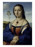 Portrait of Maddalena Strozzi Donica, c.1506 Reproduction procédé giclée par  Raphael