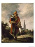 The Clown Giclée-Druck von David Teniers the Younger