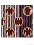 Red Triangles in Round Giclée-Druck von Liubov Sergeevna Popova