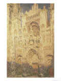 Rouen Cathedral in the Evening Impressão giclée por Claude Monet