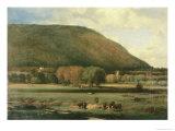 Hudson River Valley Giclée-tryk af George Inness