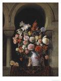 Vase of Flowers in the Window Giclee Print by Francesco Hayez