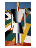 The Farmer in the Field Giclée-tryk af Kasimir Malevich