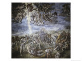 The Conversion of Saul Giclée-tryk af Michelangelo Buonarroti,