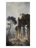 Ruins Near Water, c.1779 Giclee Print by Hubert Robert