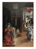 Annunciation Giclee Print by Lorenzo Lotto