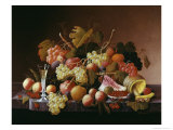 Tabletop Still Life Giclee Print by Severin Roesen