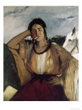 Gypsy with a Cigarette Giclee Print by Edouard Manet