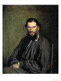 Portrait of the Author Leo Tolstoy Giclee Print by Ivan Nikolaevic Kramskoj