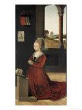 Portrait of a Female Donor Lámina giclée por Petrus Christus