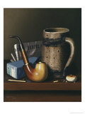 Mynheer's Lunch Giclée-tryk af William Michael Harnett