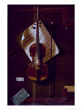 The Old Violin Giclée-tryk af William Michael Harnett