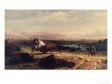 Last of the Buffalo Giclée-tryk af Albert Bierstadt