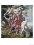 Abraham Sacrificing Isaac Lámina giclée por  Domenichino