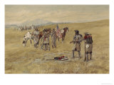 Captain Meriwether Lewis Meeting the Shoshones Giclee Print by Celia Russell