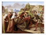 Christ on His Way to Golgotha Giclée-Druck von W. Von Schadow