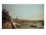 London from Somerset House Impressão giclée por  Canaletto