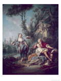 The Flower Gatherers Giclee Print by Francois Boucher