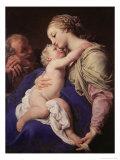 The Holy Family Giclée-tryk af Pompeo Batoni