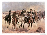Dismounted: The 4th Troopers Moving Giclee-trykk av Frederic Sackrider Remington