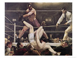 Dempsey and Firpo Giclee-trykk av George Bellows