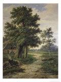 Wooded Landscape Giclee-trykk av Barend Cornelis Koekkoek