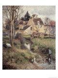 Stream at Osny Reproduction procédé giclée par Camille Pissarro