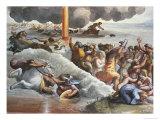 Moses Crossing the Red Sea Reproduction procédé giclée par  Raphael