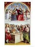 Le Couronnement de la Vierge Reproduction procédé giclée par  Raphael