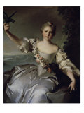 Portrait of Marquise D'Antin Giclee Print by Jean-Marc Nattier