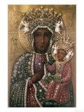 Black Madonna of Czestochowa Giclée-tryk