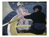 The Boating Party Giclee Print by Mary Cassatt