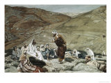 Lawyer Standing Up and Tempting Jesus Lámina giclée por James Tissot