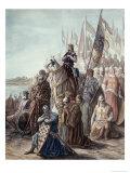 St. Louis Before Damietta, Egypt, 6th Crusade Giclee-trykk av Gustave Doré