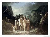 Daniel Boone Escorting Pioneers, c.1775 Gicléedruk van George Caleb Bingham