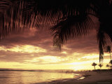 Sunset, Poipu Beach, Kauai, HI Photographic Print by Elfi Kluck