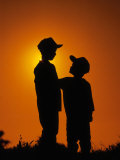 Silhouette of Boys Photographic Print by Jerry Koontz