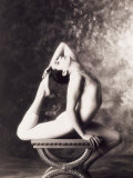 Ballerina Stretching Over Table Photographic Print by John Glembin