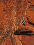 Rock Climbing, Red Rock, NV Fotografie-Druck von Greg Epperson
