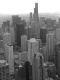 Aerial View of Chicago Stampa fotografica di Keith Levit