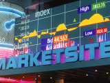 Marketsite Sign at Nasdaq, NYC, NY Fotografie-Druck von Rudi Von Briel