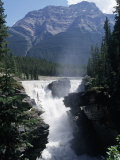 Athabasca Waterfall in Jasper National Park, Alberta, Canada Photographic Print by Claire Rydell