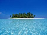 Ile tropicale déserte, atoll d'Ari, Maldives Reproduction photographique par Stuart Westmorland
