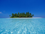 Isla tropical deshabitada, Ari Atoll, Maldivas Lámina fotográfica por Stuart Westmorland