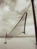 Volleyball Net on the Beach, Cancun, Mexico Fotografisk trykk av D. Robert Franz