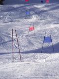 Slalom Ski Race Course Reproduction photographique par Bob Winsett