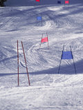 Slalom Ski Race Course Photographic Print by Bob Winsett