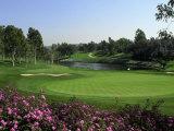 Golf Course and Lake Reproduction photographique par John Connell